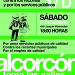 ALCORCON - MANIFESTACIÓN ESTE SABADO 17D CONTRA LOS RECORTES
