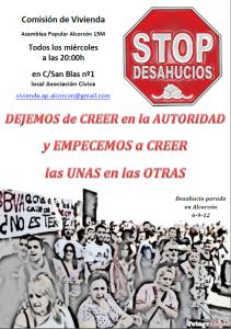 Comisión de vivienda #STOPDESAHUCIOS